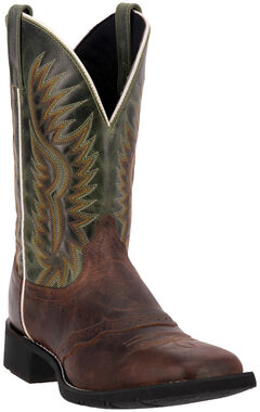 Laredo Men's Jhase Western Boots - Square Toe, Brandy, hi-res