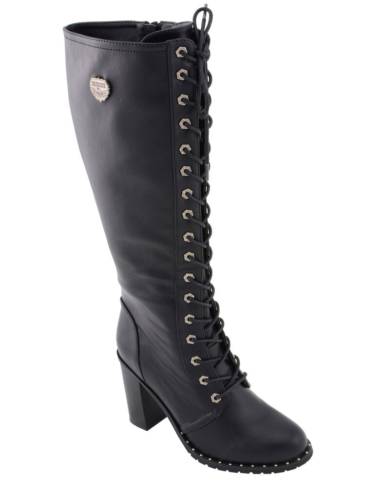 e856ce05b02 Milwaukee Leather Women's Lace To Toe Boots - Round Toe