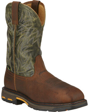 Ariat Men's Workhog Internal Met Guard Work Boots - Composite Toe, Brown, hi-res