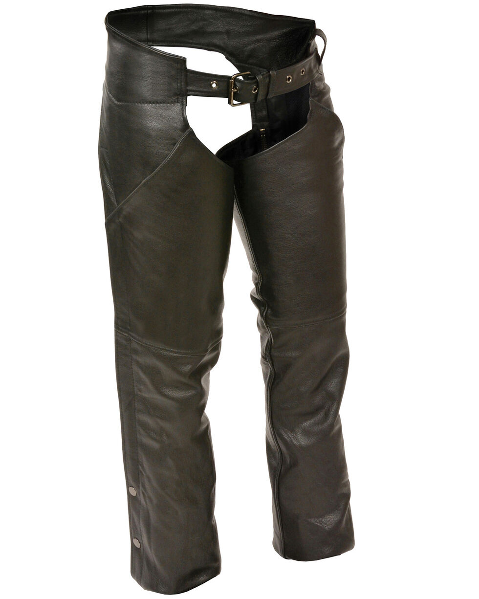 Milwaukee Leather Women's Hip Pocket Chaps - 4X, Black, hi-res
