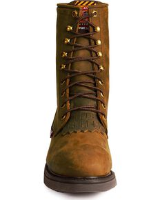 "Justin Men's Conductor 8"" Lace-Up Work Boots - Steel Toe, Brown, hi-res"
