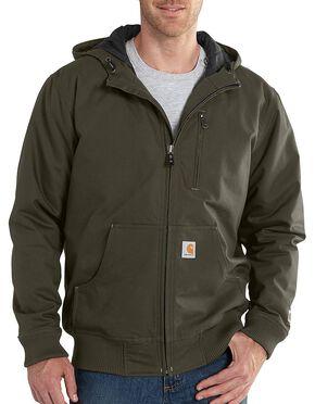 Carhartt Men's Quick Duck Jefferson Active Jacket, Olive Green, hi-res