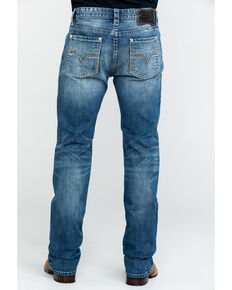 Rock & Roll Cowboy Men's Large V Reflex Revolver Slim Straight Jeans , Blue, hi-res