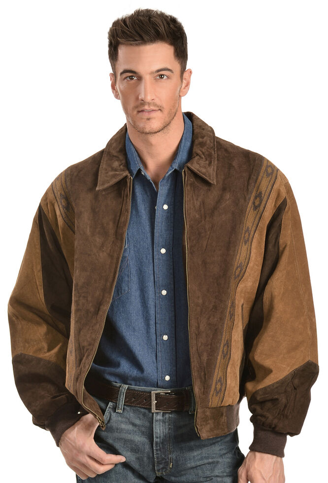 Scully Boar Suede Leather Arena Jacket, Chocolate, hi-res