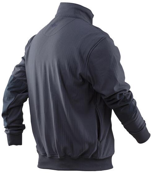 Tru-Spec Men's Grid Fleece Zip Job Shirt, Navy, hi-res