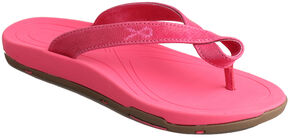 "Twisted X Women's ""Tough Enough to Wear Pink"" Sandals , Pink, hi-res"