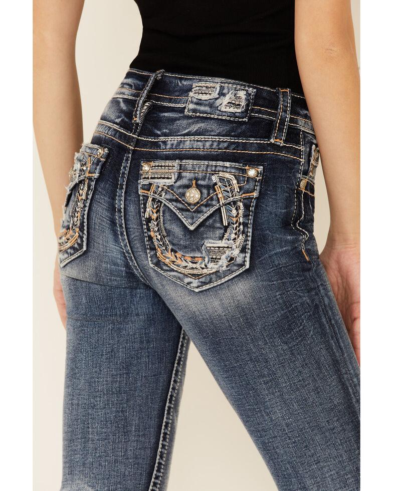 Miss Me Women's Horseshoe Chloe Bootcut Jeans, Blue, hi-res