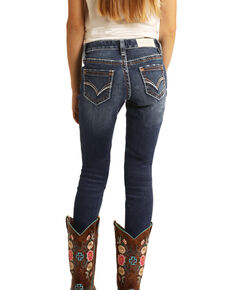 Rock & Roll Denim Girls' Medium Extra Stretch Skinny Jeans , Blue, hi-res