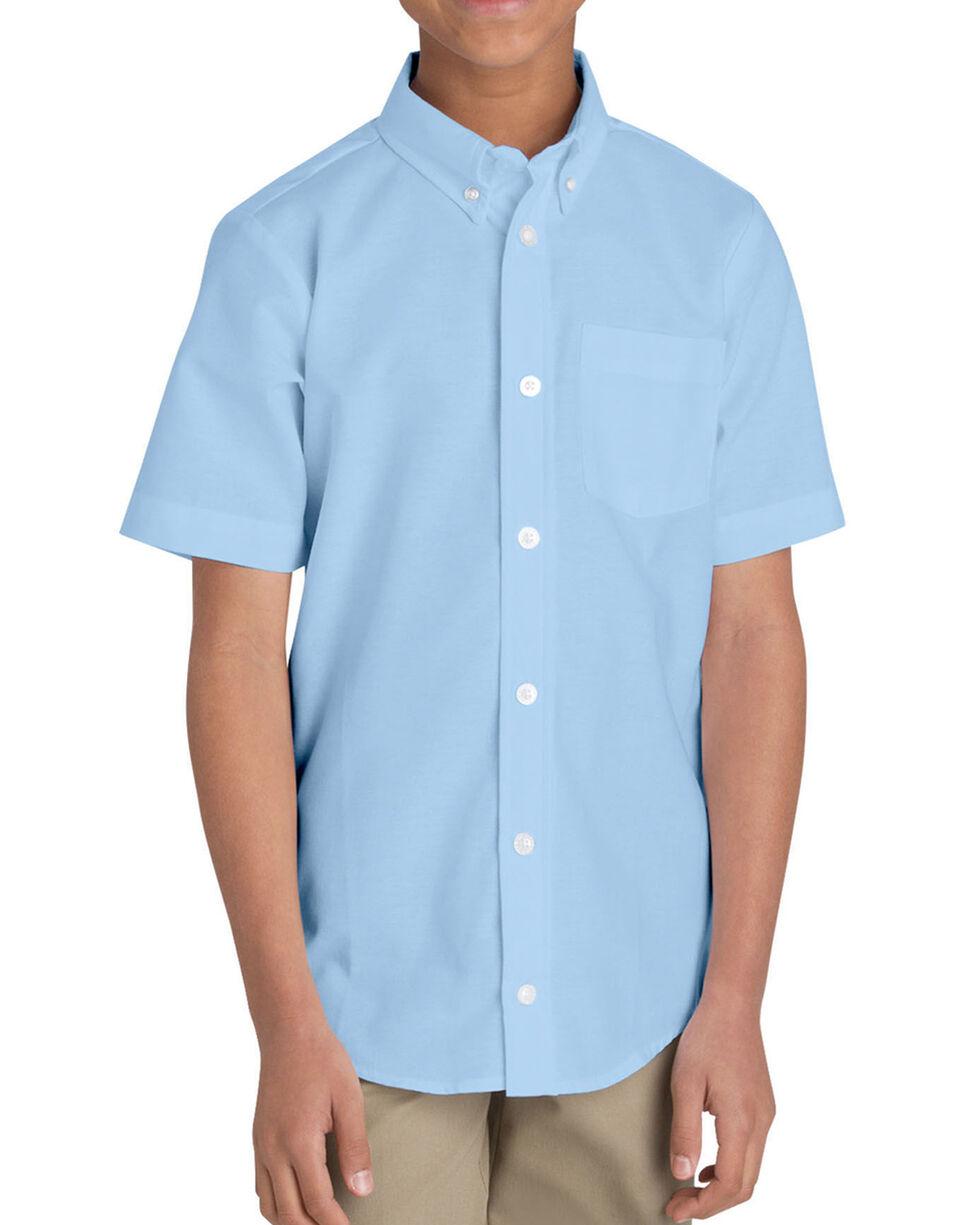 Dickies Boys' Oxford Short Sleeve Shirt - 4-8, Light Blue, hi-res