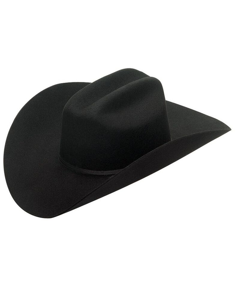 Twister Double S 2X Select Wool Cowboy Hat, Black, hi-res