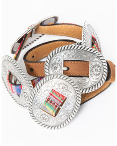 Nocona Women's Thin Multicolored Concho Belt, Multi, hi-res