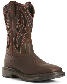 Ariat Men's Workhog XT VentTEK Western Work Boots - Wide Square Toe, Chocolate, hi-res