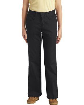 Dickies Girls' Stretch Bootcut Pants - 16-18, Black, hi-res