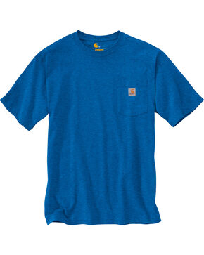 Carhartt Men's Blue Heather Workwear Pocket T-Shirt, Blue, hi-res