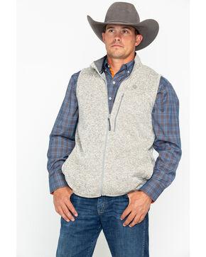 George Strait by Wrangler Men's Silver Birch Heather Knit Vest, Silver, hi-res