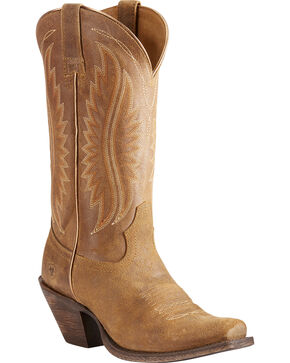 Ariat Women's Tan Circuit Salem Textured Boots - Square Toe , Tan, hi-res