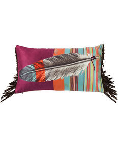 HiEnd Accents Red Feather Pillow , Red, hi-res