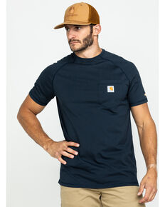 Carhartt Force Men's Short Sleeve Work T-Shirt , Navy, hi-res
