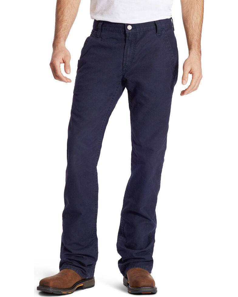 Ariat Men's FR M4 Navy Workhorse Bootcut Jeans, Navy, hi-res