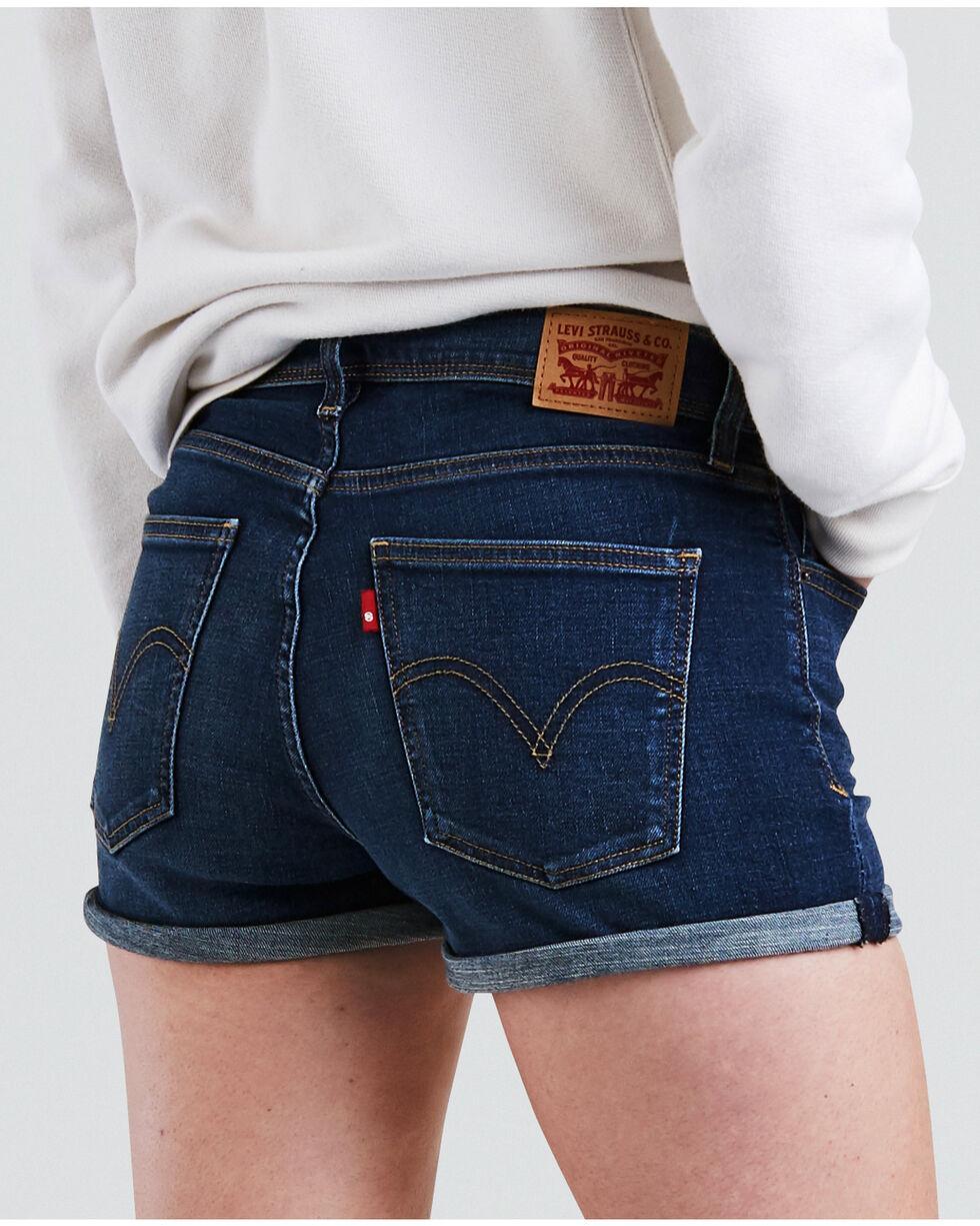 Levi's Women's Blue Forest High Rise Shorts, Indigo, hi-res