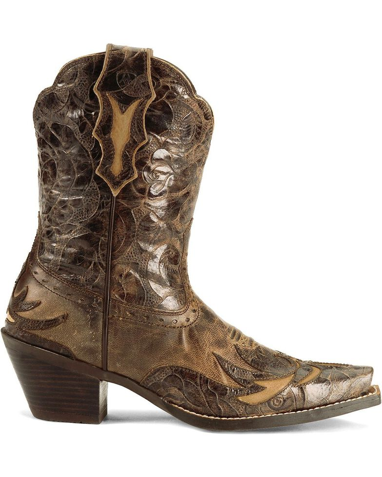 Ariat Brown Dahlia Wingtip Cowgirl Boots - Snip Toe, Brown, hi-res