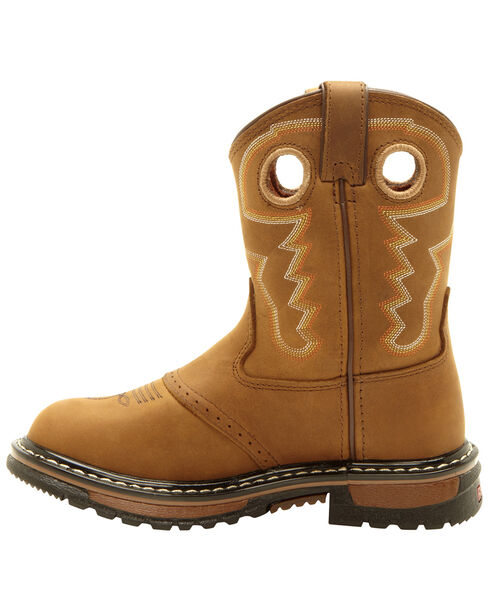 Rocky Youth Boys' Branson Roper Western Boots - Round Toe, Tan, hi-res