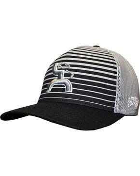 Hooey Men's Black Long Drive Flexfit Baseball Cap , Black, hi-res