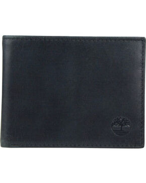 Timberland Men's Cloudy Leather Contrast Billfold Wallet , Black, hi-res