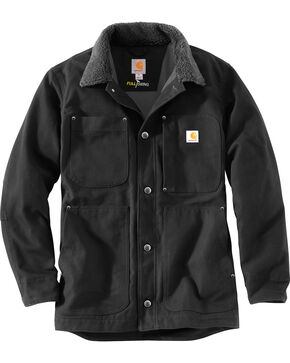 Carhartt Men's Full Swing Chore Coat , Black, hi-res