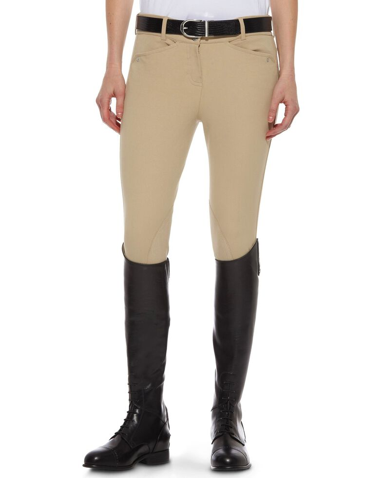 Ariat Women's Heritage Low Rise Riding Breeches, Beige, hi-res