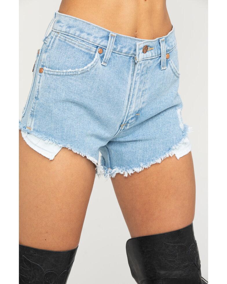 Wrangler Women's Modern Denim Reworked Shorts, Blue, hi-res