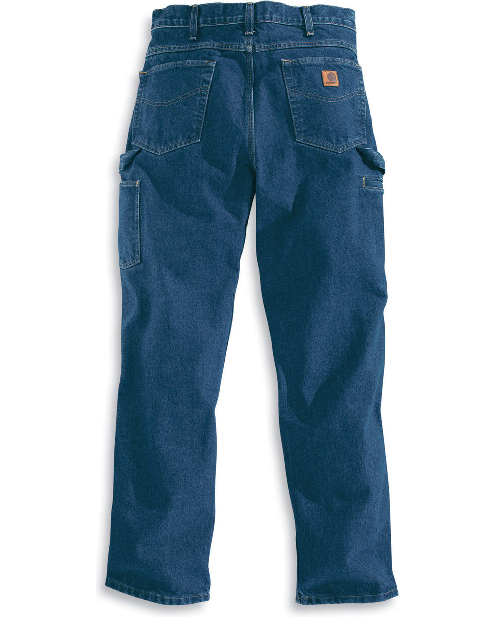 Carhartt Men's Relaxed Fit Carpenter Jeans - Straight Leg , Blue, hi-res
