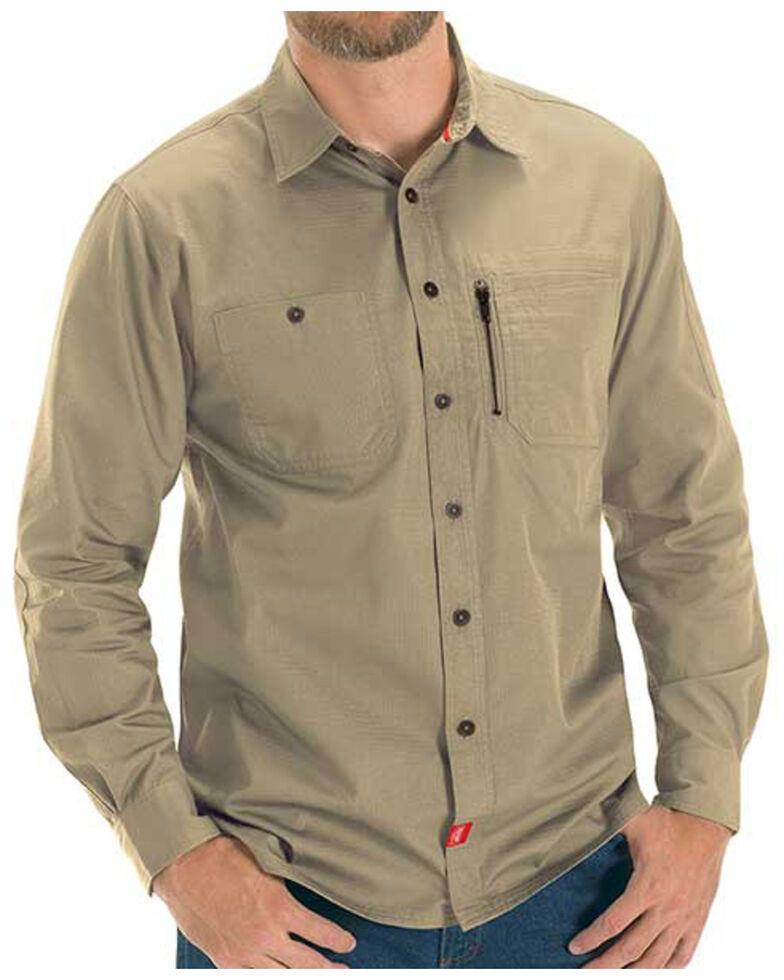 Red Kap Men's Sand MIMIX™ Woven Long Sleeve Work Shirt , , hi-res