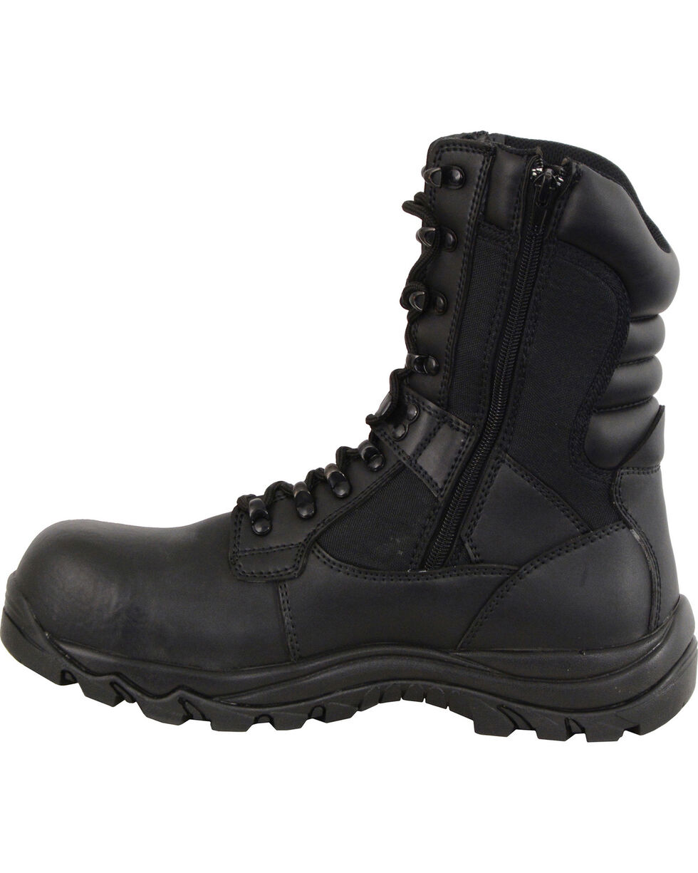 Milwaukee Leather Men's Black Tactical Boots - Composite Toe , Black, hi-res