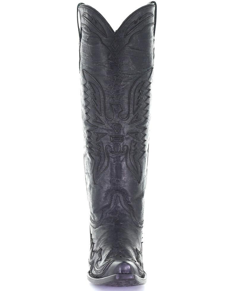 Corral Women's Vintage Black Eagle Overlay Western Boots - Snip Toe, Black, hi-res