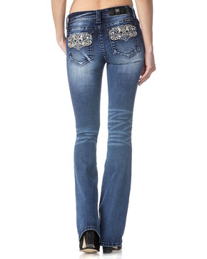 Miss Me Women's Indigo Perfect Paisley Jeans - Boot Cut , Indigo, hi-res