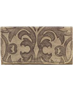 American West Sand Baroque Tri-Fold Wallet , Sand, hi-res