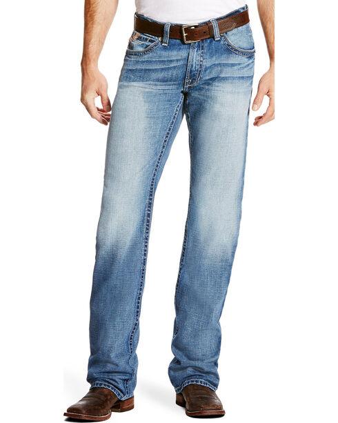 Ariat Men's M4 Bonner Low Rise Relaxed Fit Jeans - Boot Cut, Indigo, hi-res