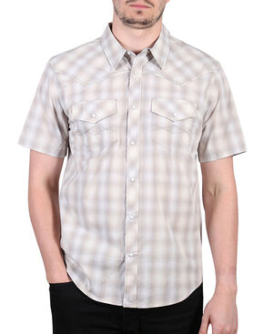 Cody James Men's Salerno Short Sleeve Western Shirt, Khaki, hi-res