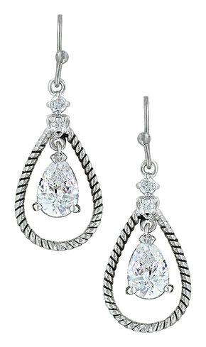Montana Silversmiths Women's Catch the Rain Earrings , Silver, hi-res