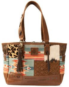 Carroll Co. Women's Remnants Tote Bag, Brown, hi-res
