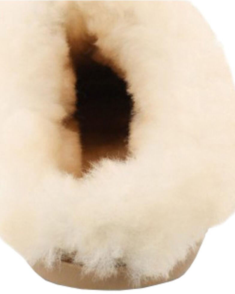 Minnetonka Women's Sheepskin Mules, Tan, hi-res