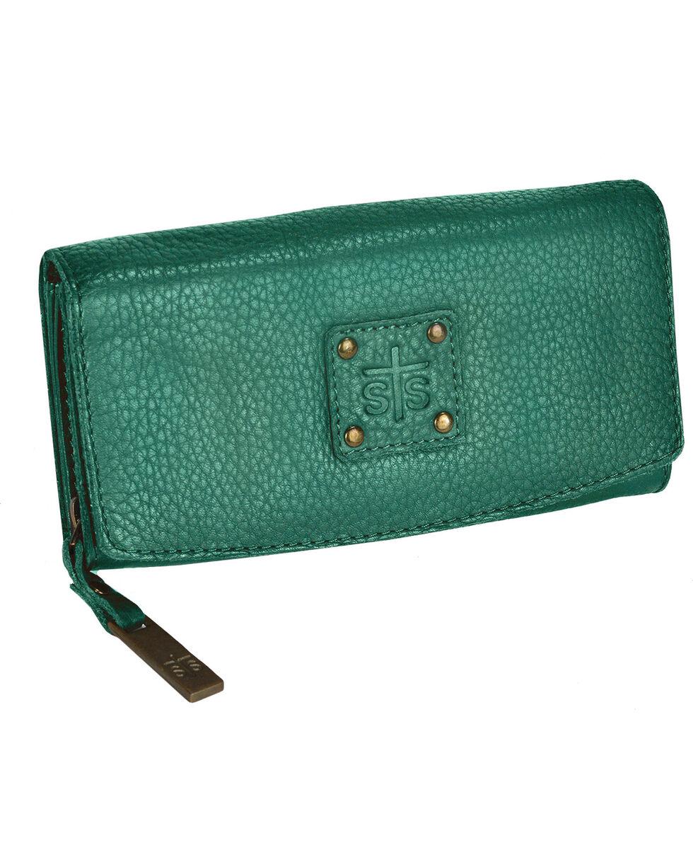 STS Ranchwear Jade Cassie Joh Trifold Wallet , Light/pastel Green, hi-res
