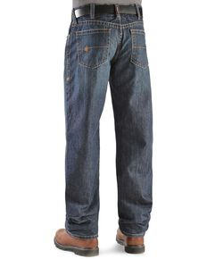 Ariat Men's Flame Resistant Loose Fit Shale Work Jeans, Denim, hi-res