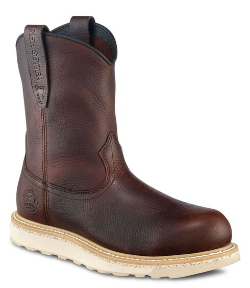 Red Wing Irish Setter Ashby Wedge Pull-On Work Boots - Round Toe, Brown, hi-res