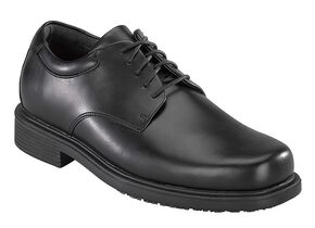 Rockport Works Men's Work Up 5-Eye Dress Work Shoes - Soft Toe, Black, hi-res