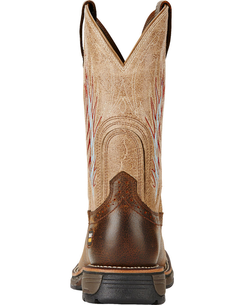 Ariat Brown Workhog Mesteno II Cowboy Work Boots - Soft Square Toe, Brown, hi-res