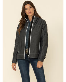 Cowgirl Hardware Women's Charcoal Tech Woodsman Arrow Jacket, Charcoal, hi-res