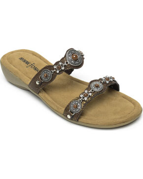 Minnetonka Women's Boca Slide III Strap Sandals, Bronze, hi-res