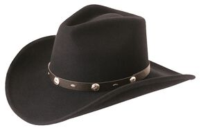 Silverado Crushable Wool Felt Hat, Black, hi-res